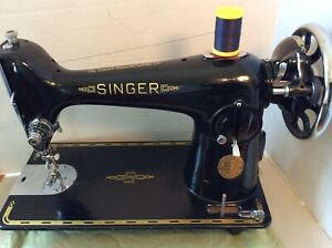 Stunning Singer 201k 1939 Vintage Sewing Machine Treadle Or Crank Head