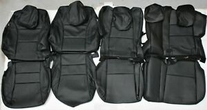 Fits 2016 2017 2018 Honda Hr V Lx Ex Black Leather Upholstery Seat Cover Set New