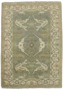 Hand Knotted Floral Style Oushak 4x6 Indian Area Rug Oriental Home D Cor Carpet