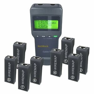 8108 Electronic Digital Network Cable Meter Tester Stp utp Coaxial Cable Tool
