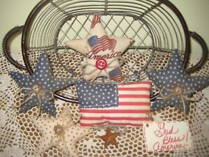 Patriotic Flag Stars Bowl Fillers Wreath Making 4th Of July Country Home Decor