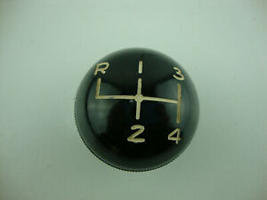 Vintage 1 3 4 Black 4 Speed Shifter Knob 1 2 Theard