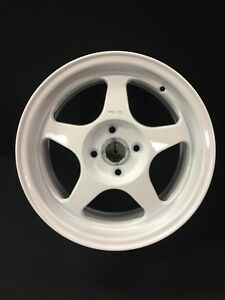 15x7 5 White Fat Lip Spoon Style Wheels For Honda Civic Integra Miata 4x100