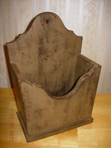 Primitive Candle Flower Wall Box Home Decor Color Choice Made To Order