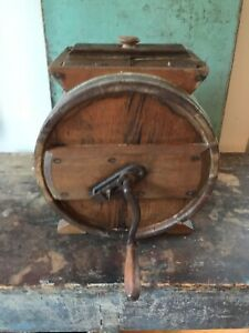 Antique Wooden Barrel Butter Churn Richmond Cedar Works Va