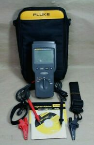 Fluke 1520 Megohmmeter Insulation Tester With Leads Clamps Free Shipping