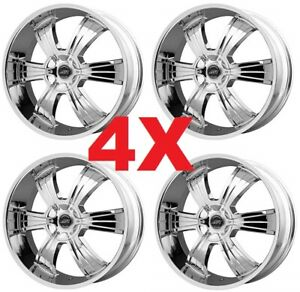 24 Chrome Custom Wheels Rims Deep Dish Lip 5x115