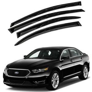 For 2010 2016 Ford Taurus 4pcs Smoke Acrylic Window Sun Rain Visors Wind Guard