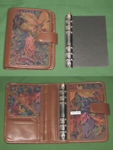 Compact 1 25 Floral Tapestry S leather Day Runner Planner Binder Franklin Covey