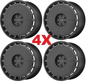 22 Black Wheels Rims 5x115 Dodge Chrysler Kmc Km689