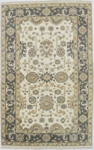 Hand Knotted Floral Oushak Chobi 5x8 Indian Area Rug Oriental Home D Cor Carpet
