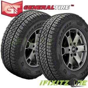 2 X New General Grabber Apt 265 75r16 116t Owl Tires