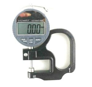 Electronic Micrometer Digital Thickness Meter Gauge Usa batteries Not Included