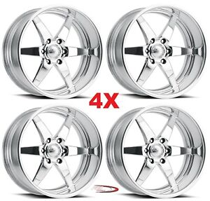 18 Pro Wheels Rims Stealth 6 Forged Billet Polished Aluminum Us Specialties Mags