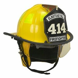 Cairns Yellow 1010 Traditional Fiberglass Helmet Nfpa Osha 1010 W 4