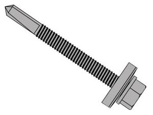Forgefix Fortfhw5570h Techfast Roofing Sheet To Steel Hex Screw