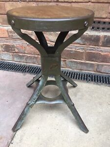 Vintage Industrial Evertaut Machinists Factory Stool
