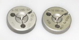 6 32 Unc 3a Thread Ring Gage Go Not go 32 Tpi 138 Size Control Co
