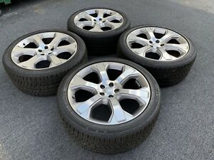 Real Range Rover Wheels Tires 22 Inch Rare Autobiography Oem Genuine Forged