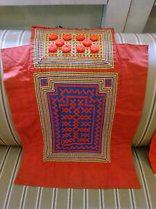 Vintage Hmong Hill Tribes Baby Carrier Quilt Applique Textile Wall Art Cushion 2