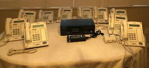 Panasonic Kx tda50 Phone System With 10 Kx t7633 Phones one Wall Mount