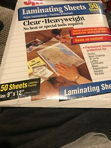 Jm Brand 50 Laminating Sheets Size 9 X 12 no Heat Required