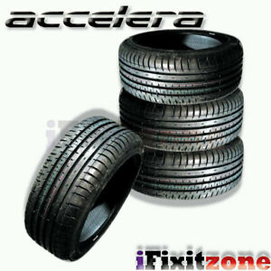 4 Accelera Phi r 225 55zr16 99w 400aa Ultra High Performance Tires 225 55 16 New