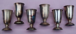 Vintage Sterling Silver Set Box Cordial Footed Cup Shot Glass Liquor Goblet 925
