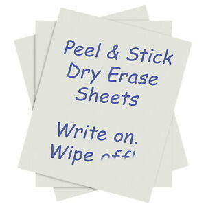 C line Peel And Stick Dry Erase Sheets 24 X 17 Inches White Pack Of 15