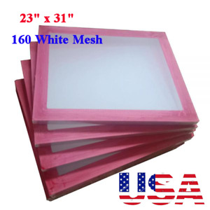 Usa 6pack 23 X 31 Aluminum Frames Screen Printing Screens 160 White Mesh