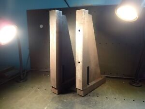 2 Pc Set 19 3 4 X 12 1 4 X 2 Milling Right Angle Plate For 3 4 T slot Table