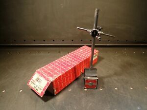 Starrett 657 Dial Indicator Stand W Magnetic Base 657aa Used In Good Condition