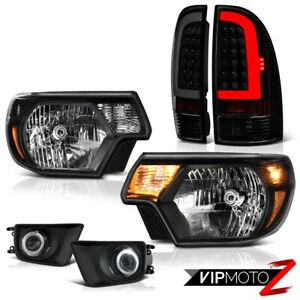 For 12 15 Toyota Tacoma Sinister Black Rear Projector Fog Head Lamps Replacement