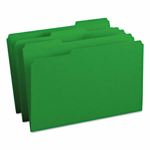 Colored File Folders 1 3 cut Tabs Legal Size Green 100 box
