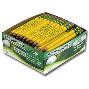 Ticonderoga Dix13472bn Golf Pencils With Eraser 72 Per Box 2 Boxes Graphite w