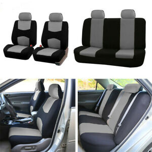 9 Parts Universal Car Seat Covers Front Rear Head Rests Full Set Auto Seat Cover
