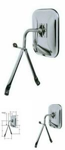Universal Side Mirror Replacement Low Mount Full Size Van Pickup Truck Chrome