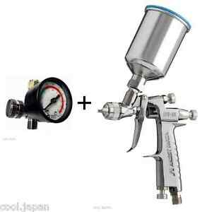 Anest Iwata Air Regulator Lph80 124g Mini Gravity Spray Gun With 150ml Cup New