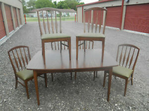 Mid Century Danish Modern Keller Dining Table And Six 6 Chairs