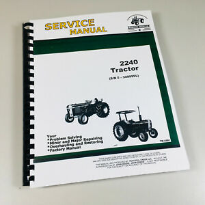 Service Manual For John Deere 2240 Tractor Technical Shop Repair Book Overhaul