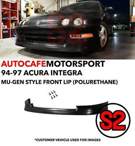 S2 Mu gen Style Front Lip urethane For 94 97 Acura Integra 2 4dr