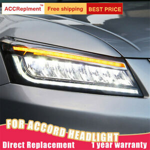 For Honda Accord 8 Headlights Assembly All Led Lens Projector Led Drl 2008 2012