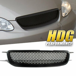 For 2003 2008 Toyota Corolla Jdm Front Bumper Upper Hood Black Mesh Grille Grill