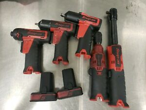Snap On Cordless Set 1 4 3 8 Ratchet Screwdriver And Impact Wrench 2 Battery