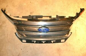 2010 2012 Ford Fusion Front Bumper Radiator Grill Chrome Trim Moulding Logo Oem
