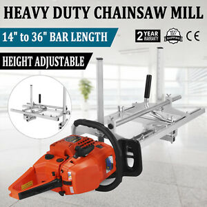 Portable 14 36 Chain Saw Mill Log Planking Lumber Cutting Chainsaw Guide Bar