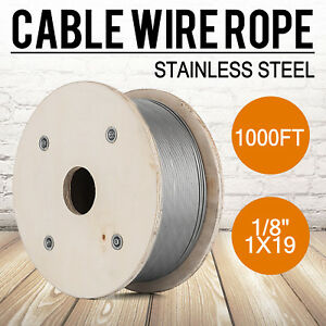 Cable Railing T316 Stainless Steel Wire Rope Cable Strand 1 8 1x19 1000 Ft
