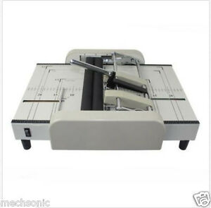 A3 Booklet Making Machine Paper Bookbinding And Folding Booklet Stapling 220v Sj