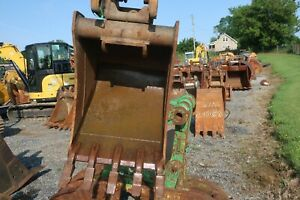 Solid Used 22 Case 590 Backhoe Bucket W Tag Coupler