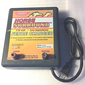 Parmak Horse Surround Electric Fence Charger Hs 100 For Parts repair Untested